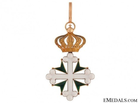 Order of St Maurice and St. Lazarus, Grand Officer's Cross (in gold) Obverse