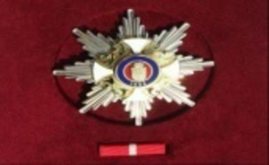 Order of the Karadjordje Republic, I Class Breast Star Obverse