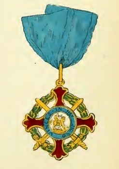 Royal Military Order of St. George of the Reunion, Commander (without crown) Obverse