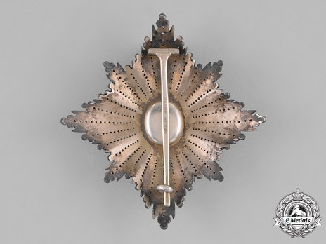 Order of the White Eagle, Type II, Civil Division, II Class Breast Star Obverse