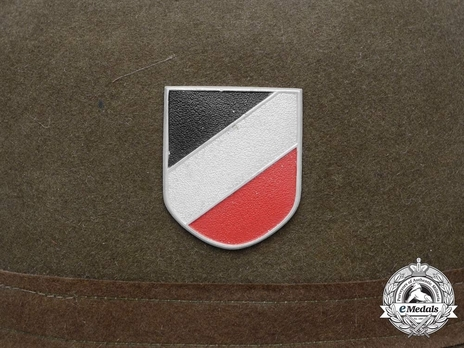 German Army Pith Helmet (2nd version) Tricolour Decal