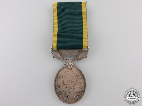 Miniature Silver Medal  (with 1 clasp) Reverse