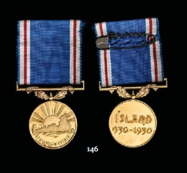 Althing's Jubilee Badge of Honour, Gold Medal