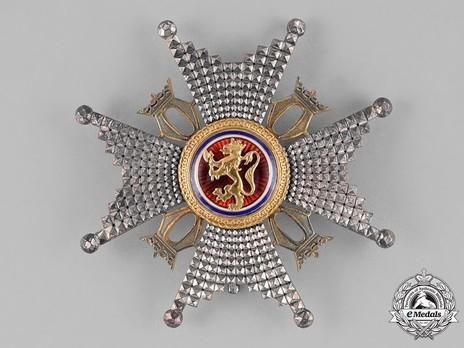 Order of St. Olav, Commander Breast Star, Civil Division Obverse