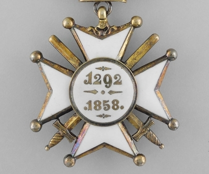 Order of Civil and Military Merit of Adolph of Nassau, Officer (Military Division) Reverse