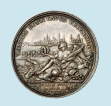 The Taking of Narva, Silver Medal Reverse