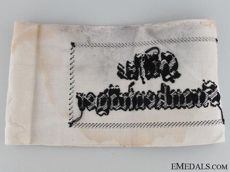 Kriegsmarine Auxiliary Stretcher Bearer Armband Inside Out