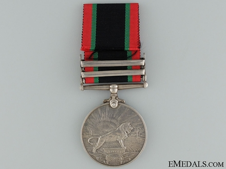 """Silver Medal (with """"DARFUR 1916"""" clasp, with """"1335"""" date) Reverse"""