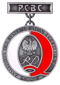 Decoration for Merit to the System of Research and Certificates Obverse