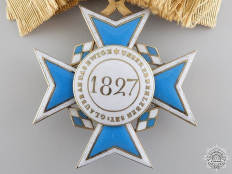"Order of Theresa, Cross (with diamonds on the ""T"" and crown) Reverse"