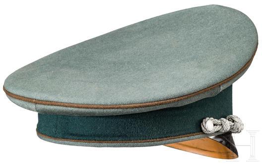 German Army Construction Officer's Visor Cap Back