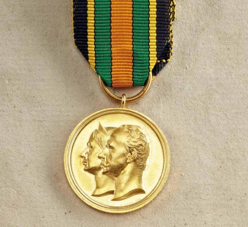 Golden+wedding+jubilee+medal%2c+gold%2c+obv+