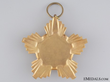 Order of the Victory of Socialism, Breast Star (in tombac) Reverse