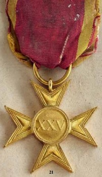 Officer Long Service Cross for 25 Years
