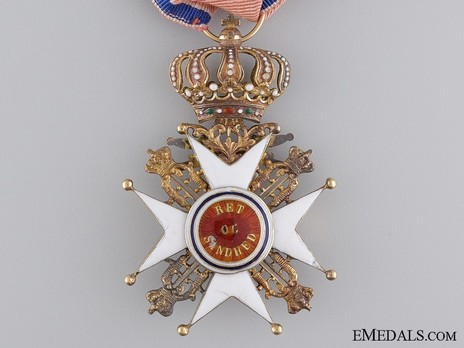 Order of St. Olav, Knight I Class, Military Division (1847-1906) Reverse