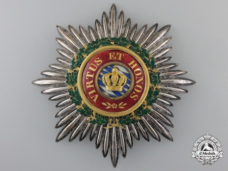 Grand Cross Breast Star (Silver/Gold) ObverseMerit Order of the Bavarian Crown, Grand Cross Breast Star