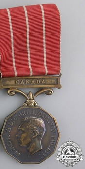 Canadian Forces Decoration, Type I (with suspension bar inscription) Obverse