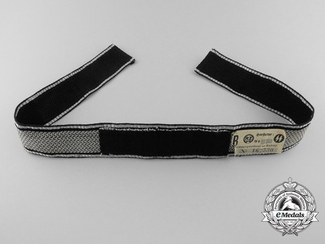 SS Deutschland Officer Cuff Title (flatwire form 1 version) Reverse