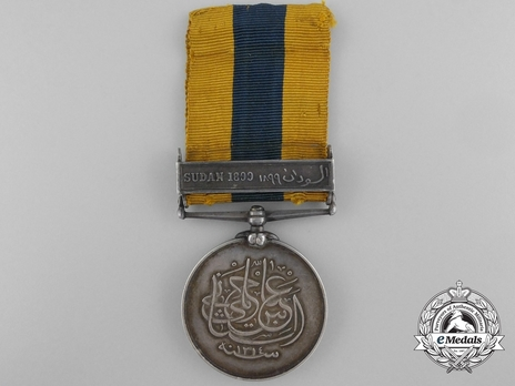 "Silver Medal (with ""SUDAN 1899"" clasp) Obverse"