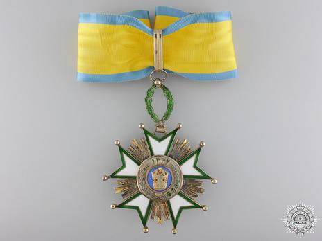 Order of the Crown (Order of Taj), II Class Commander Obverse