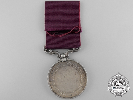 Silver Medal (with Honourable East India Company shield) Reverse