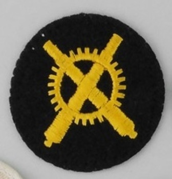 Kriegsmarine Enlisted Men Artillery Mechanic Insignia Obverse