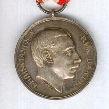 """Silver Medal (obverse stamped """"LINDAHL"""" reverse stamped """"AUG. THOMSEN"""") Obverse"""