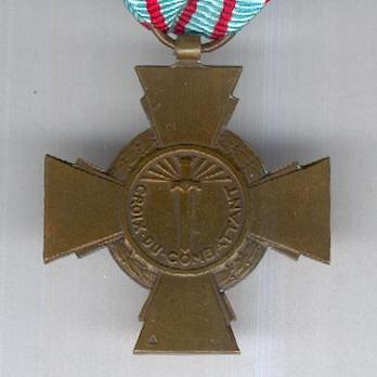 Bronze Cross (by Janvier Berchot) Reverse