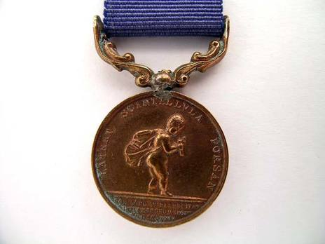 """Bronze Medal (for """"unsuccessful"""" rescues, 1837-1867) Obverse"""