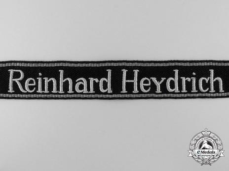 Waffen-SS Reinhard Heydrich NCO/EM's Cuff Title (RZM machine-embroidered version) Obverse