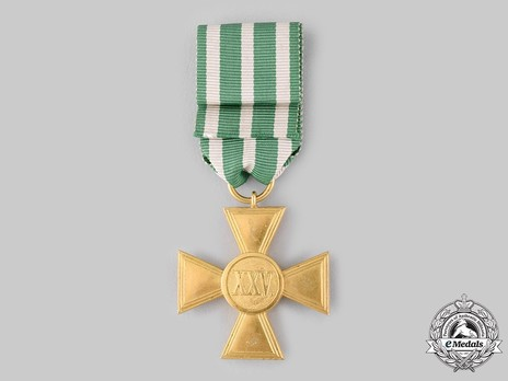 Long Service Decoration, Type II, Cross for 25 Years (in bronze gilt)