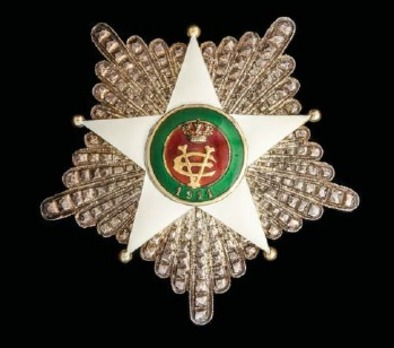 Order of the Colonial Star of Italy, Grand Officer's Cross Breast Star (in silver gilt)
