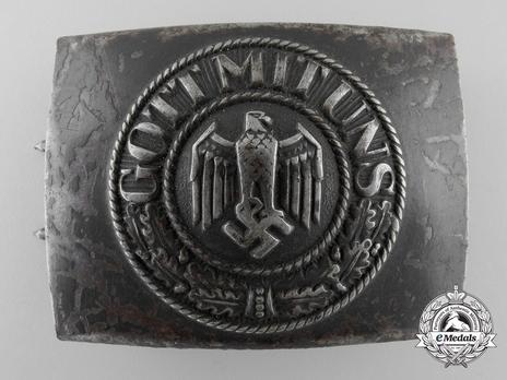 Kriegsmarine NCO/EM Belt Buckle (Blue-Grey version) Obverse