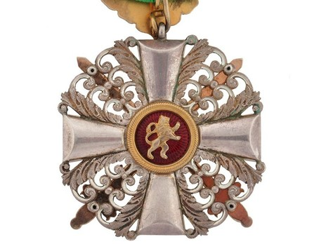 I Class Knight with Swords (with oak leaves) (in silver gilt) Reverse