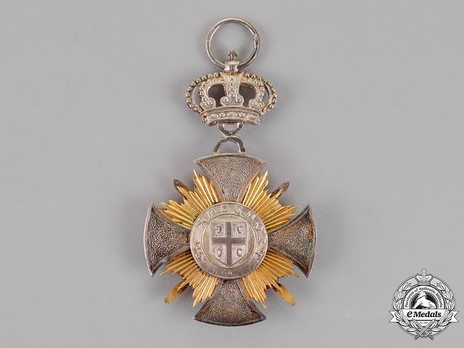 Military Order of the Star of Karageorg, in Silver Obverse