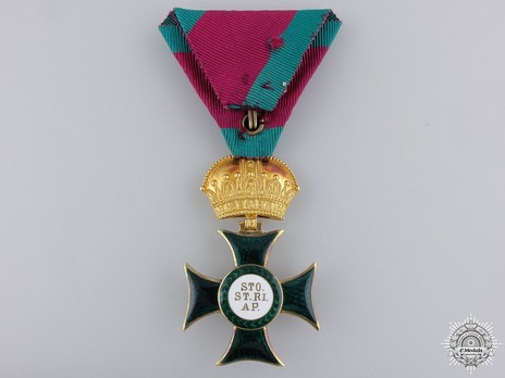 Order of St. Stephen of Hungary, Knight Reverse