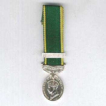 Miniature Silver Medal  (with 1 clasp) Obverse