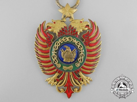 Order of Skanderbeg, Type II, Grand Cross Obverse