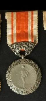 "Hygiene Medal, Silver Medal (stamped ""O.ROTY"")"