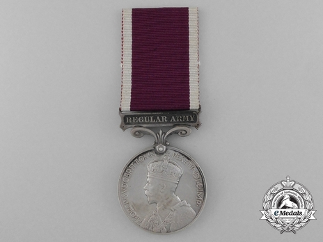 Silver Medal (for Regular Army, 1930-1936) Obverse