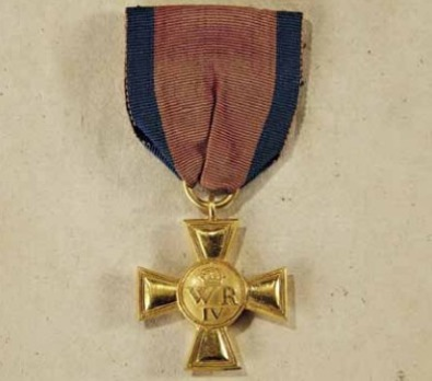 Wilhelm's Long Service Cross for Officers (in gold)
