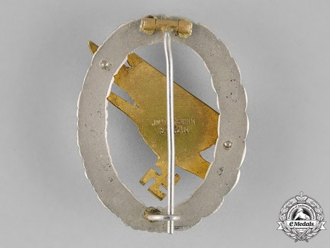 Luftwaffe Paratrooper Badge, by Jmme Reverse