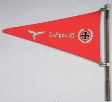 Shooting Down Pennant of Air District XI (for Flak units) Obverse