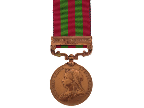 """Bronze Medal (with """" DEFENCE OF CHITRAL 1895"""" clasp) (1896-1901) Obverse"""