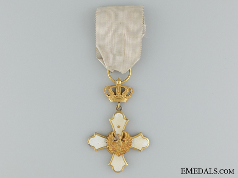 Order of the Phoenix, Type II, Military Division, Knight's Cross, in Gold Obverse