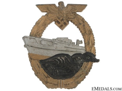 E-Boat War Badge, Type II, by Unknown Maker: AS in Triangle Obverse