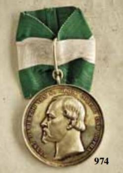 Duke Ernst Medal, in Small Gold (in silver gilt)