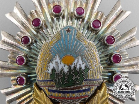 Order for Special Merit in the Defence of the State and Social Order, II Class Breast Star (1968-1989) Obverse Detail