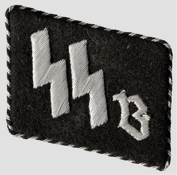 SS-Schule Braunschweig 2nd pattern Non-Commissioned Staff & Cadets Collar Tabs Obverse