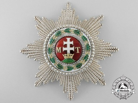 Order of St. Stephen of Hungary, Grand Cross Breast Star Reverse